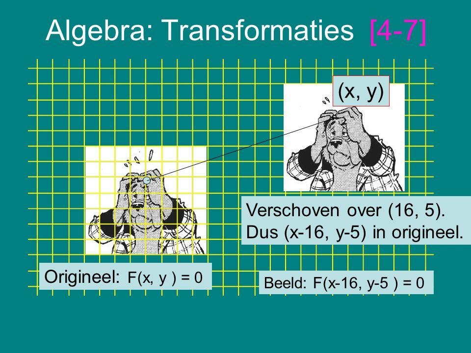 Algebra: Transformaties [4-7]